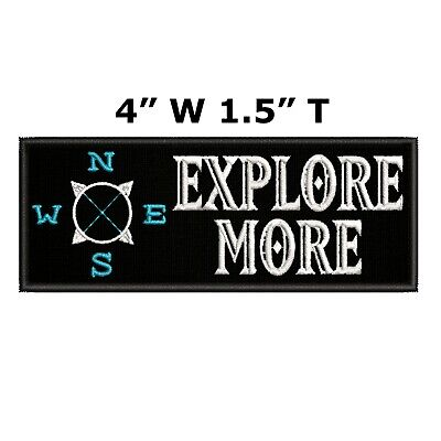 EXPLORE MORE COMPASS Embroidered Patch Iron-On / Sew-On Decorative Applique
