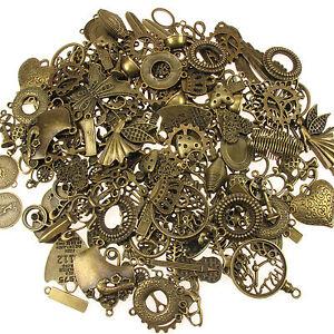 Assortiment,Breloques,Pendentifs,Bronze,Laiton,Ancien,Bijoux,Steampunk,