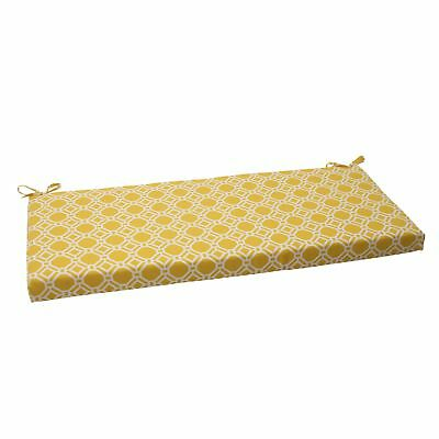 Pillow Perfect Indoor/Outdoor Rossmere Bench Cushion, Yellow