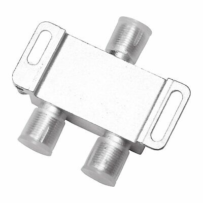 2 Way 5-1000 MHz 1 to 2 Coaxial Splitter for RG6 RG59 Coax Cable HDTV Satellite Consumer Electronics
