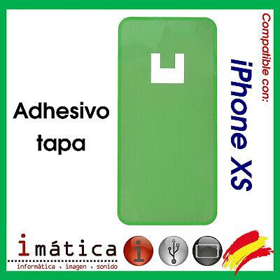 ADHESIVO TRASERO PARA iPHONE XS TAPA DE LA BATERIA APPLE PEGATINA DOBLE...