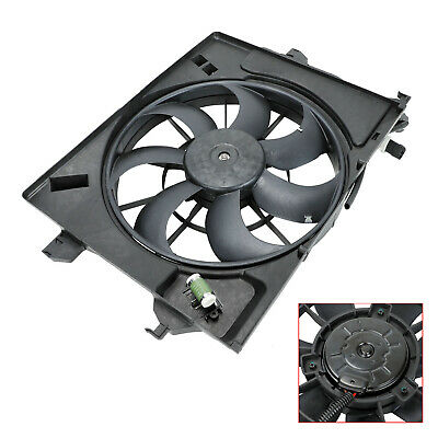 Fits 2012-18 Kia Rio Hyundai Accent Veloster Condenser AC Radiator Cooling Fan