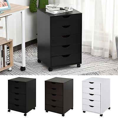 Homcom 5 Drawer Storage Organizer Filing Cabinet W Nordic Minimal Style