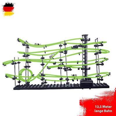 Neon Kugelbahn Murmelbahn zum selber bauen mit 13,5Meter Länge, Lvl 3,Space-Rail