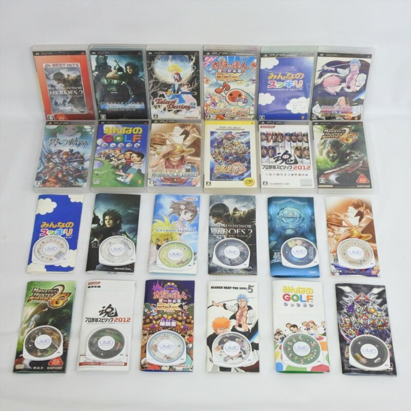 Lot of 12 PSP UMD PS Portable Sony Game 0304 psp