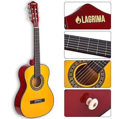 "34"" Acoustic Guitar with Nylon Strings for Kids Adults Learner in Yellow"