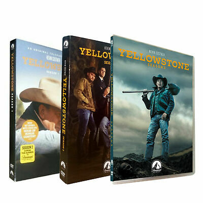 Yellowstone Season 1 & 2 & 3 1 2 3 (DVD ,12-Disc) Free shipping * US Seller *