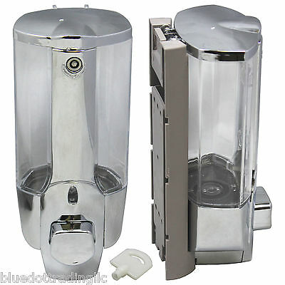 350ml Wall Mount Soap Sanitizer Bathroom Washroom Shower Shampoo Dispenser NEW