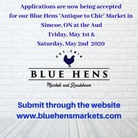 "Vendors Wanted - Blue Hens "" Antique to Chic"" Market"
