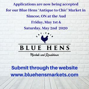 """Vendors Wanted - Blue Hens """" Antique to Chic"""" Market"""