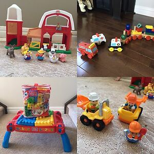 little people farm and construction + mega block LOT
