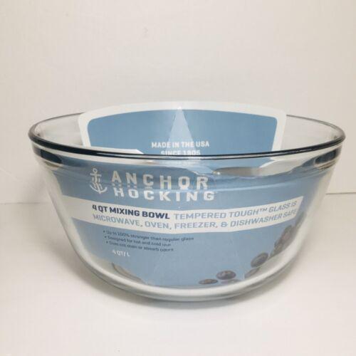 NEW Anchor Hocking 81629L11 4 Qt Mixing Bowl Clear Glass Tem