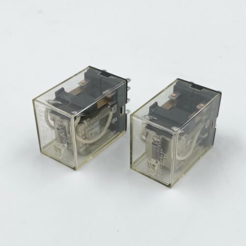 LOT of 2! Omron MY2 Relay 110/120 VAC 5A DPDT MY2AC110120S