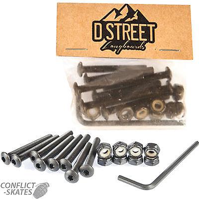 """D STREET Skateboard Domehead Truck Bolts 1.5"""" Allen Longboard 1.5 inch old Skool"""