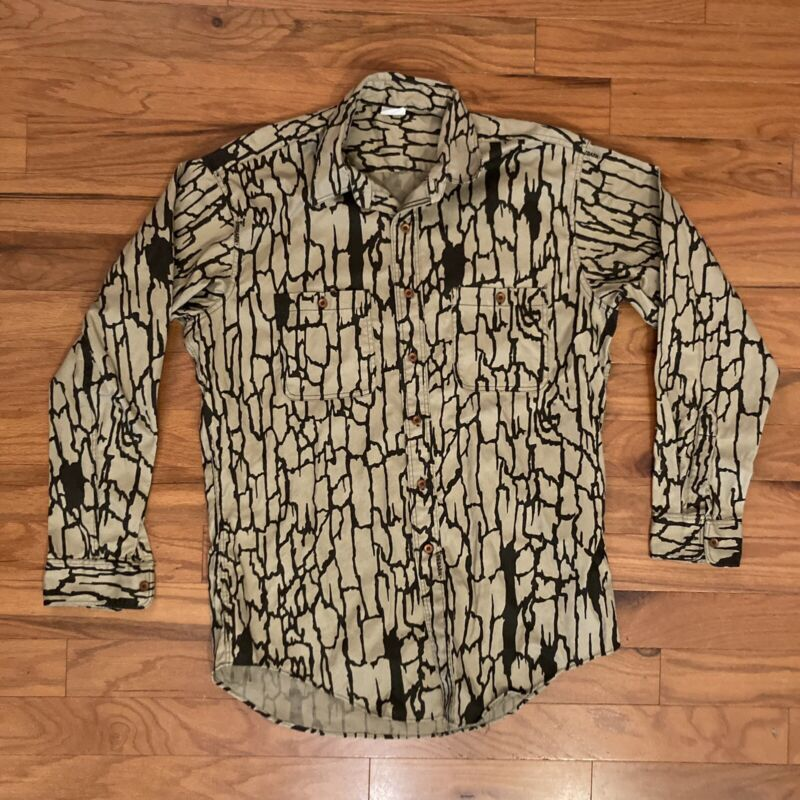 Vintage Trebark Longsleeve Button Shirt 1980 Bowing Ent Large Made In USA