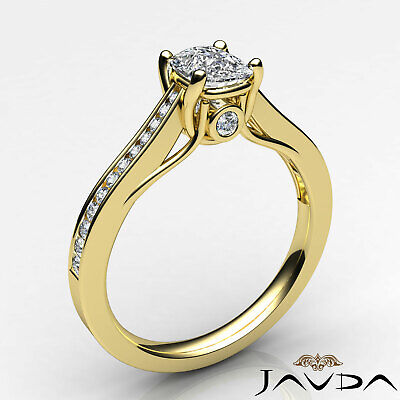 Bezel Channel Set Comfort Fit Cushion Diamond Engagement Ring GIA G VS2 0.7 Ct 8