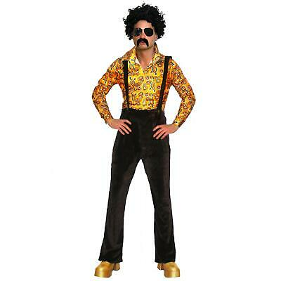 60s 70s Adults Disco Fever Costume Mens 1970s Fancy Dress 70s Outfit & Shoes ()