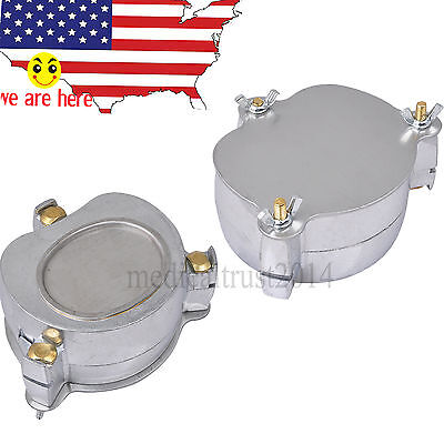 2pcs Dental Aluminium Denture Flask Compressor Parts Dental Lab Equipment