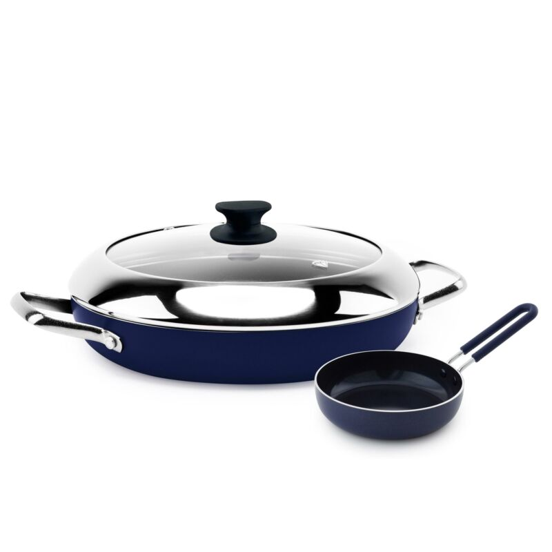 Blue Diamond Ceramic Non-Stick Diamond-Infused Grill Genie w
