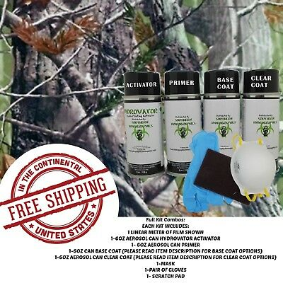 Hydrographic Water Transfer Hydro Dip Full Kit Activator 1m Tree Camo 7 Film