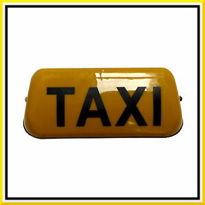 14 yellow taxi sign roof illuminated indicator. Black Bedroom Furniture Sets. Home Design Ideas