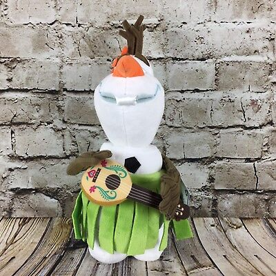 """Frozen Olaf Snowman Hula Skirt 14"""" Disney Store Authentic Patch Plush Blemished"""