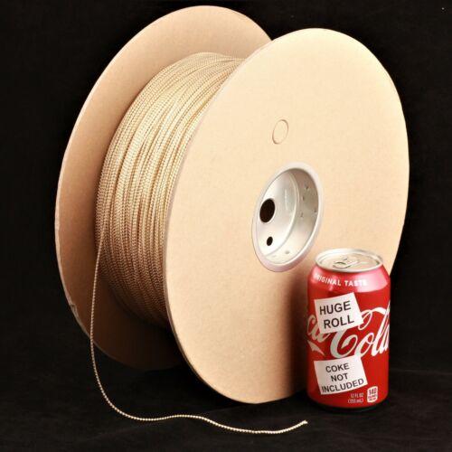 BULK LOT White / Gold Metallic #07 Needloft Nylon Craft Cord - 4,500 feet! USA