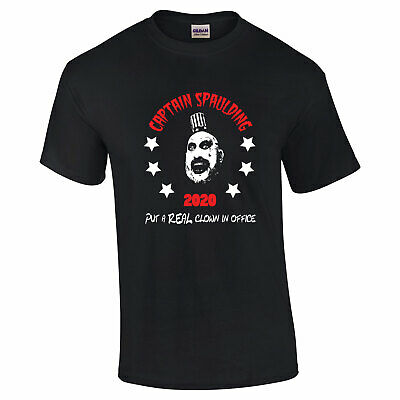 689 Captain Spaulding for President Mens T-shirt scary movie horror clown killer](Scary Killer Clowns)