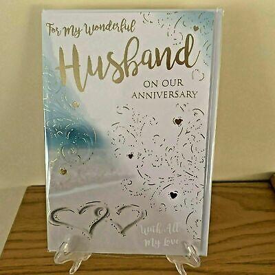 Cute Anniversary Card For Husband Male Man Adult Foil Congratulations