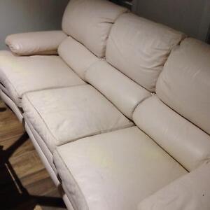 Lounge suit ( cream leather Casula Liverpool Area Preview