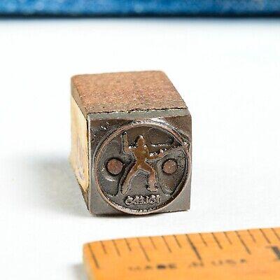 Toledo Fencing Logo Sm 12x 12 Vintage Letterpress Printers Block