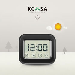 KCASA Large Digital Kitchen Timer Touch Screen LCD Loud Magnetic Alarm Clock