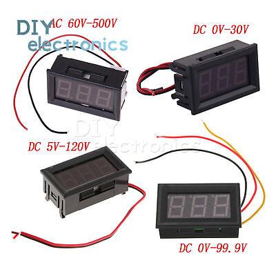 0.56led Voltmeter Digital Voltage Meter Ac 60v-500v Dc 0v-30v0v-99.9v5v-120v