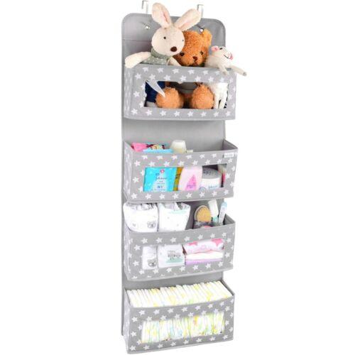 ❤ Vesta Baby Over the Door Hanging Organizer - Space-Saving 4-Pocket Storage ❤
