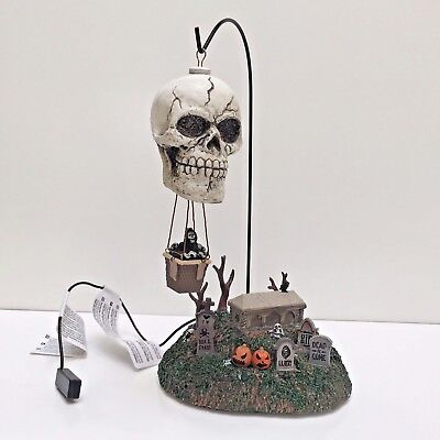 Lemax REAPER'S LANDING Lighted Animated Table Accent Spooky Town Halloween 2017