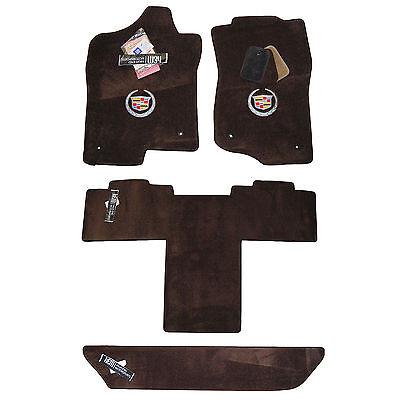 2007 - 2014 Cadillac Escalade ESV Cocoa Brown Floor Mats Set - Long Body Style