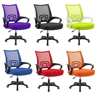 Ergonomic Desk Chairs Home Office Computer Mesh Swivel Chair With Lumbar Support