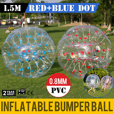 2Pcs 1 5M Inflatable Bumper Football Pvc Zorb Ball Reusable Adult Soccer