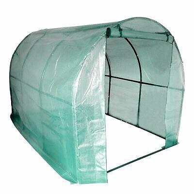 Greenhouse Garden Polytunnel Grow House Steel Frame 2m x 3m x 2m Roll Up Door