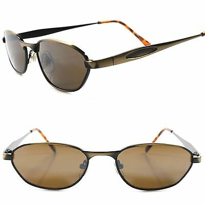 Old stock Vintage 80s 90s Urban Indie Fashion Bronze Small Rectangle Sunglasses