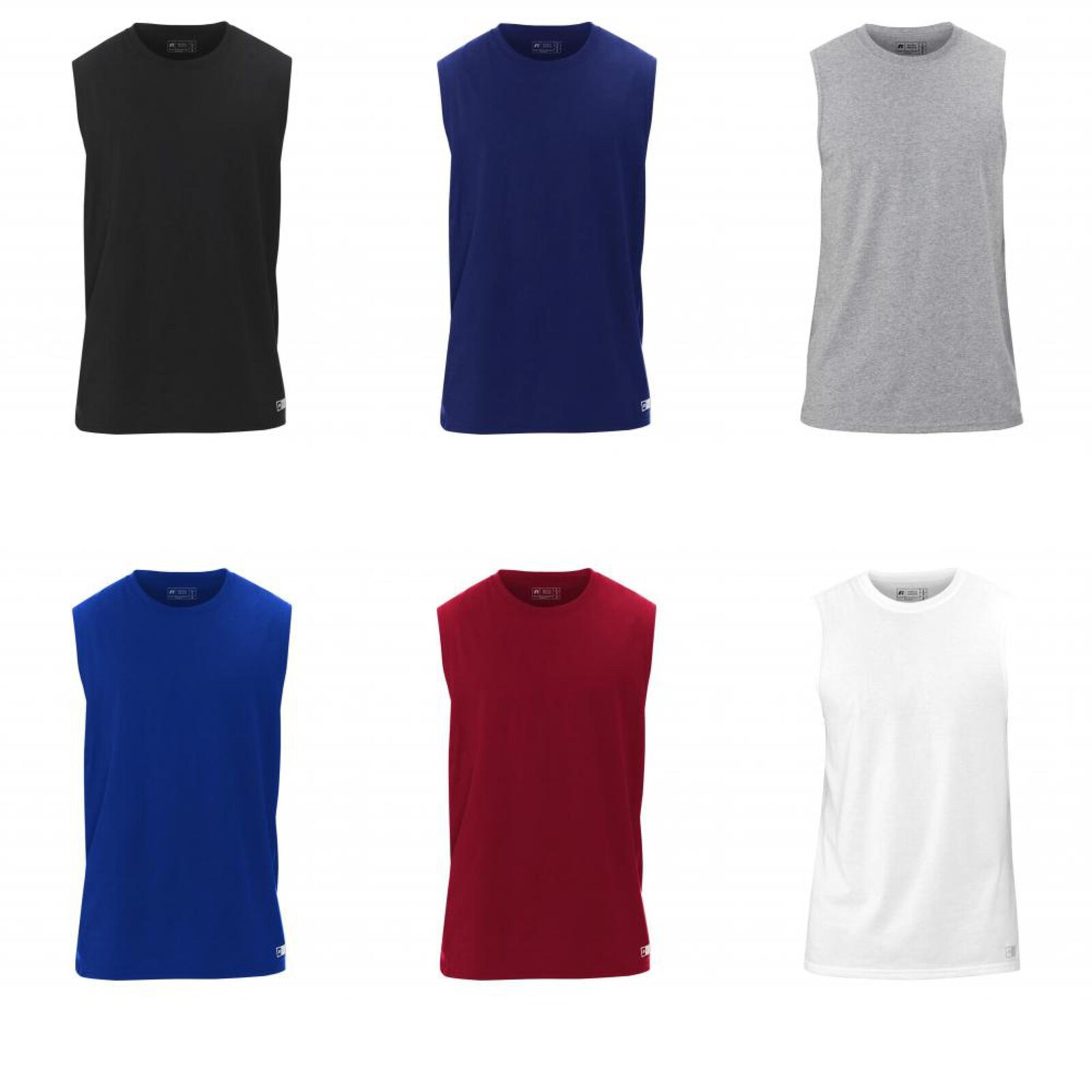 935d09354628ee Russell Athletic Men s Essential Jersey Sleeveless Muscle T-Shirt ...