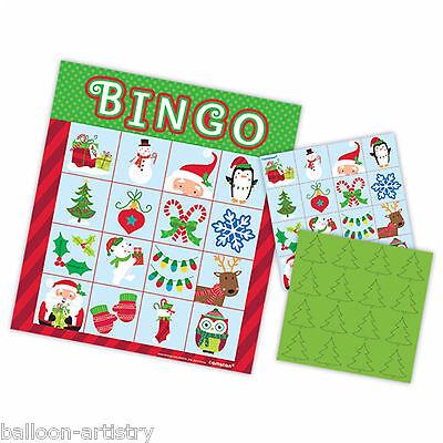 Merry Christmas Festive BINGO Cheerful Santa Snowman Children's Party Game