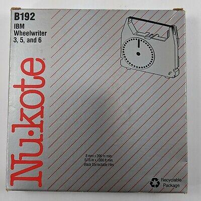 Nu-kote B192 Ibm Wheelwriter 3 5 6 Black Correctable Film Cassette 01-0192-250