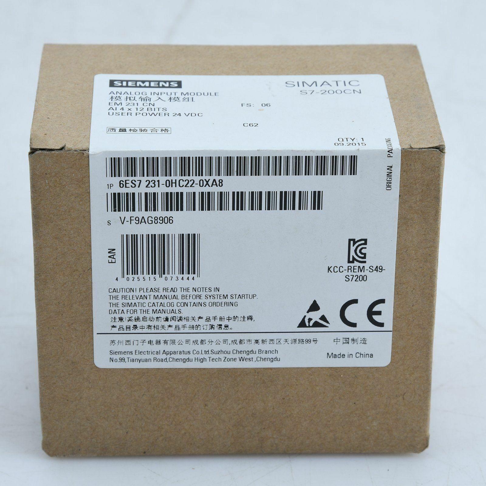 Siemens 6ES7231-0HC22-0XA8 6ES7 231-0HC22-0XA8 PLC Module New In Box