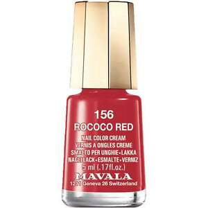 Mavala Mini Color Creme Gel Effect Nail Polish - Rococo Red (156) 5ml