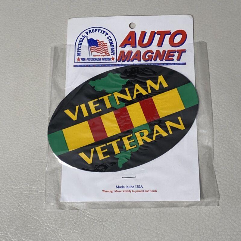"""Vietnam Veteran Auto Magnet 5 3/4"""" X 4"""" New"""
