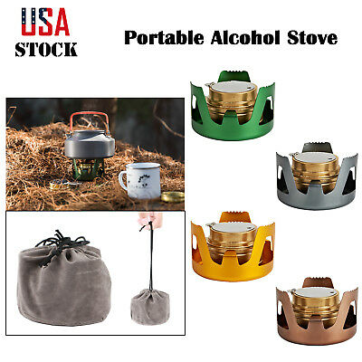 Survival Alcohol Stove Burner For Backpacking Hiking Camping Outdoor Portable US - Hiking Camp Stoves