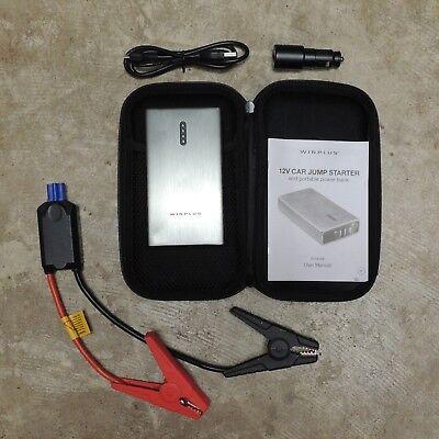 Winplus 8000mAh Lithium Car Jump Start & Vest-pocket Power Bank Brushed Metal