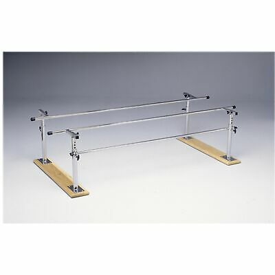 Folding height/width adjustable parallel bars, 7' adult, wood -