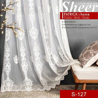 White dreamlike pattern Sheer pearl look(S-127)